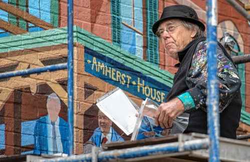 Amherst community history mural gets rededicated Saturday - Amherst Bulletin